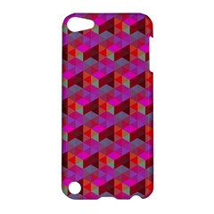 Hexagon Cube Bee Cell  Red Pattern Apple Ipod Touch 5 Hardshell Case by Cveti