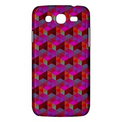Hexagon Cube Bee Cell  Red Pattern Samsung Galaxy Mega 5 8 I9152 Hardshell Case  by Cveti