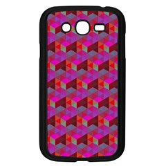 Hexagon Cube Bee Cell  Red Pattern Samsung Galaxy Grand Duos I9082 Case (black) by Cveti