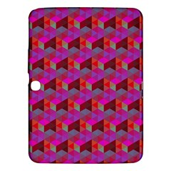 Hexagon Cube Bee Cell  Red Pattern Samsung Galaxy Tab 3 (10 1 ) P5200 Hardshell Case  by Cveti