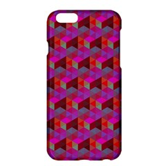Hexagon Cube Bee Cell  Red Pattern Apple Iphone 6 Plus/6s Plus Hardshell Case by Cveti