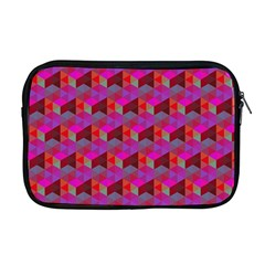Hexagon Cube Bee Cell  Red Pattern Apple Macbook Pro 17  Zipper Case by Cveti