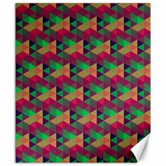 Hexagon Cube Bee Cell Pink Pattern Canvas 20  X 24   by Cveti