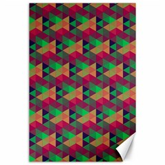 Hexagon Cube Bee Cell Pink Pattern Canvas 24  X 36  by Cveti