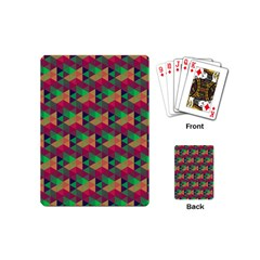 Hexagon Cube Bee Cell Pink Pattern Playing Cards (mini)  by Cveti