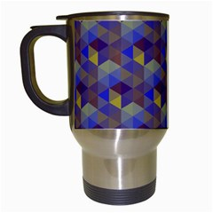 Hexagon Cube Bee Cell Purple Pattern Travel Mugs (white) by Cveti