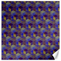 Hexagon Cube Bee Cell Purple Pattern Canvas 12  X 12   by Cveti
