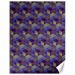 Hexagon Cube Bee Cell Purple Pattern Canvas 12  X 16