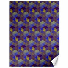 Hexagon Cube Bee Cell Purple Pattern Canvas 36  X 48   by Cveti