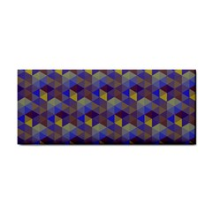Hexagon Cube Bee Cell Purple Pattern Cosmetic Storage Cases by Cveti
