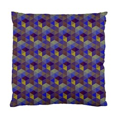 Hexagon Cube Bee Cell Purple Pattern Standard Cushion Case (one Side) by Cveti