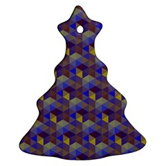 Hexagon-cube-bee Cell Purple Pattern Ornament (christmas Tree)