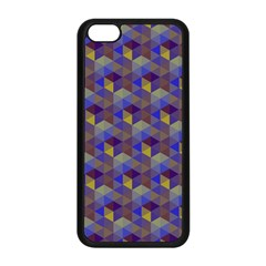 Hexagon Cube Bee Cell Purple Pattern Apple Iphone 5c Seamless Case (black) by Cveti