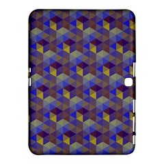Hexagon Cube Bee Cell Purple Pattern Samsung Galaxy Tab 4 (10 1 ) Hardshell Case  by Cveti