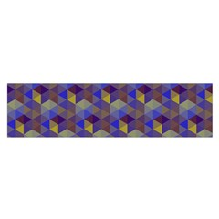 Hexagon Cube Bee Cell Purple Pattern Satin Scarf (oblong) by Cveti