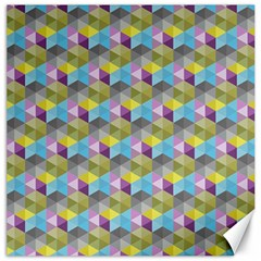 Hexagon Cube Bee Cell 1 Pattern Canvas 20  X 20   by Cveti