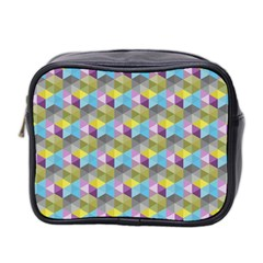 Hexagon Cube Bee Cell 1 Pattern Mini Toiletries Bag 2 Side by Cveti