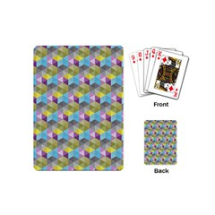 Hexagon Cube Bee Cell 1 Pattern Playing Cards (mini)  by Cveti