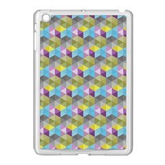 Hexagon Cube Bee Cell 1 Pattern Apple Ipad Mini Case (white) by Cveti