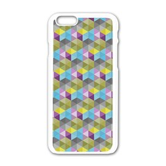 Hexagon Cube Bee Cell 1 Pattern Apple Iphone 6/6s White Enamel Case by Cveti