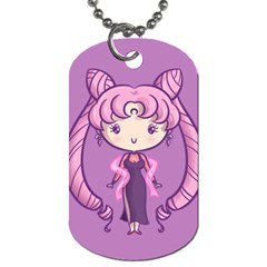 Cutie Black Lady/chibimoon Dog Tag (two-sided)  by Ellador