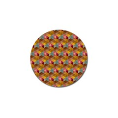 Hexagon Cube Bee Cell 2 Pattern Golf Ball Marker (10 Pack) by Cveti