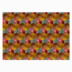 Hexagon-cube-bee Cell 2 Pattern Large Glasses Cloth (2-side) by Cveti