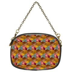 Hexagon Cube Bee Cell 2 Pattern Chain Purses (one Side)  by Cveti