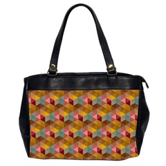 Hexagon Cube Bee Cell 2 Pattern Office Handbags (2 Sides)  by Cveti
