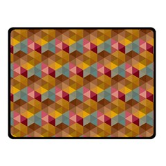 Hexagon Cube Bee Cell 2 Pattern Fleece Blanket (small) by Cveti