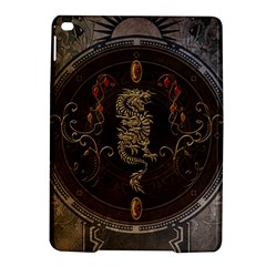Golden Chinese Dragon On Vintage Background Ipad Air 2 Hardshell Cases by FantasyWorld7