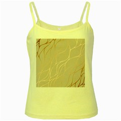 Rose Gold, Wave,beautiful,feminine,chic,elegant,metallic,modren,wedding,pink,trendy Yellow Spaghetti Tank by 8fugoso