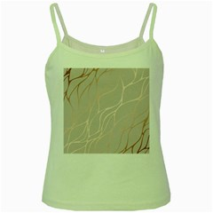 Rose Gold, Wave,beautiful,feminine,chic,elegant,metallic,modren,wedding,pink,trendy Green Spaghetti Tank by 8fugoso