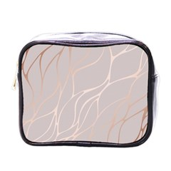 Rose Gold, Wave,beautiful,feminine,chic,elegant,metallic,modren,wedding,pink,trendy Mini Toiletries Bags by 8fugoso