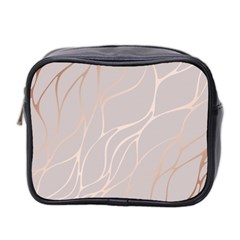 Rose Gold, Wave,beautiful,feminine,chic,elegant,metallic,modren,wedding,pink,trendy Mini Toiletries Bag 2 Side by 8fugoso