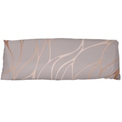 Rose Gold, Wave,beautiful,feminine,chic,elegant,metallic,modren,wedding,pink,trendy Body Pillow Case (dakimakura) by 8fugoso