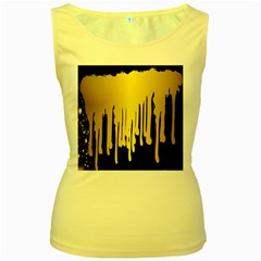 Drip Cold Women s Yellow Tank Top by 8fugoso