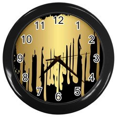 Drip Cold Wall Clocks (black) by 8fugoso