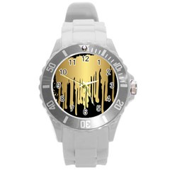 Drip Cold Round Plastic Sport Watch (l) by 8fugoso