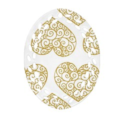 All Cards 36 Oval Filigree Ornament (two Sides) by SimpleBeeTree