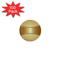 Gold8 1  Mini Buttons (100 Pack)  by 8fugoso
