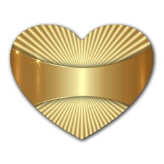 Gold8 Heart Mousepads by 8fugoso