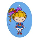 Rainbow CutiE Oval Ornament Front