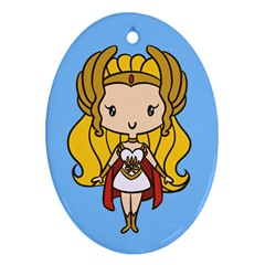Princess Of Power Cutie Oval Ornament by Ellador