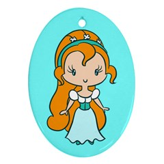 Tiny Princess Cutie Oval Ornament by Ellador
