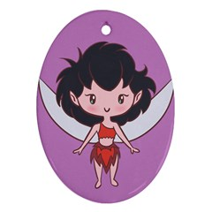 Fairy Girl Cutie Oval Ornament by Ellador