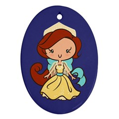 Russian Princess Cutie Oval Ornament by Ellador