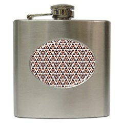 Snowflake With Crystal Shapes 2 Hip Flask (6 Oz)