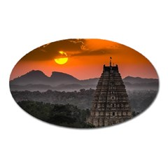 Beautiful Village Of Hampi Oval Magnet