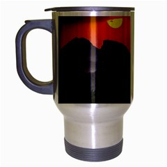 Beautiful Village Of Hampi Travel Mug (silver Gray)